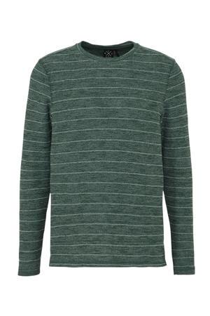 gestreept T-shirt groen/wit