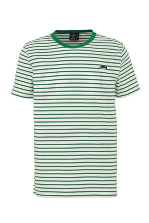 gestreept T-shirt wit/groen