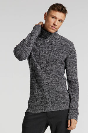 gemêleerde trui zwart melange