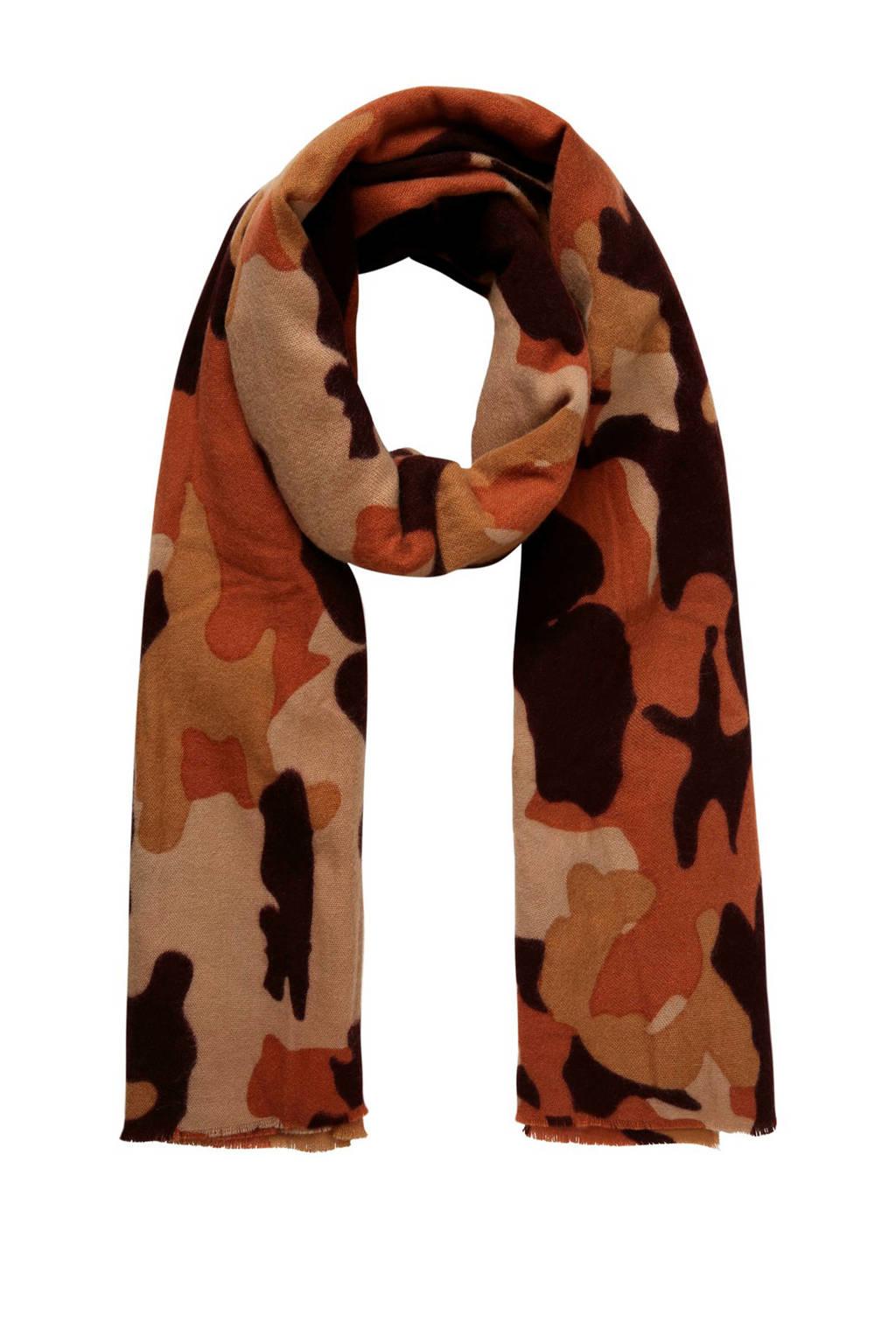 PIECES sjaal bruin, Bruin