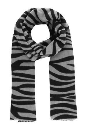 sjaal Poline met zebraprint ecru