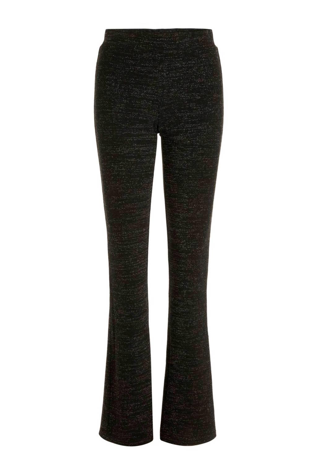 PIECES flared legging zwart, Zwart