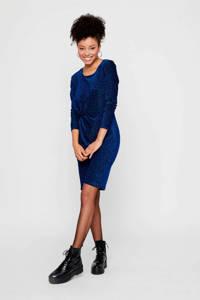 PIECES jersey jurk met glitters donkerblauw, Donkerblauw