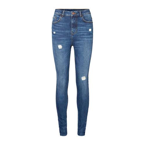NOISY MAY high waist skinny jeans blauw