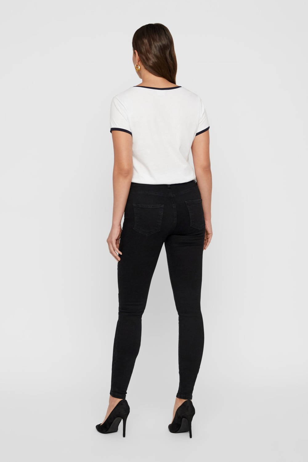 NOISY MAY high waist skinny jeans zwart