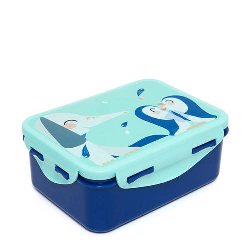 Petit Monkey lunchbox blauw