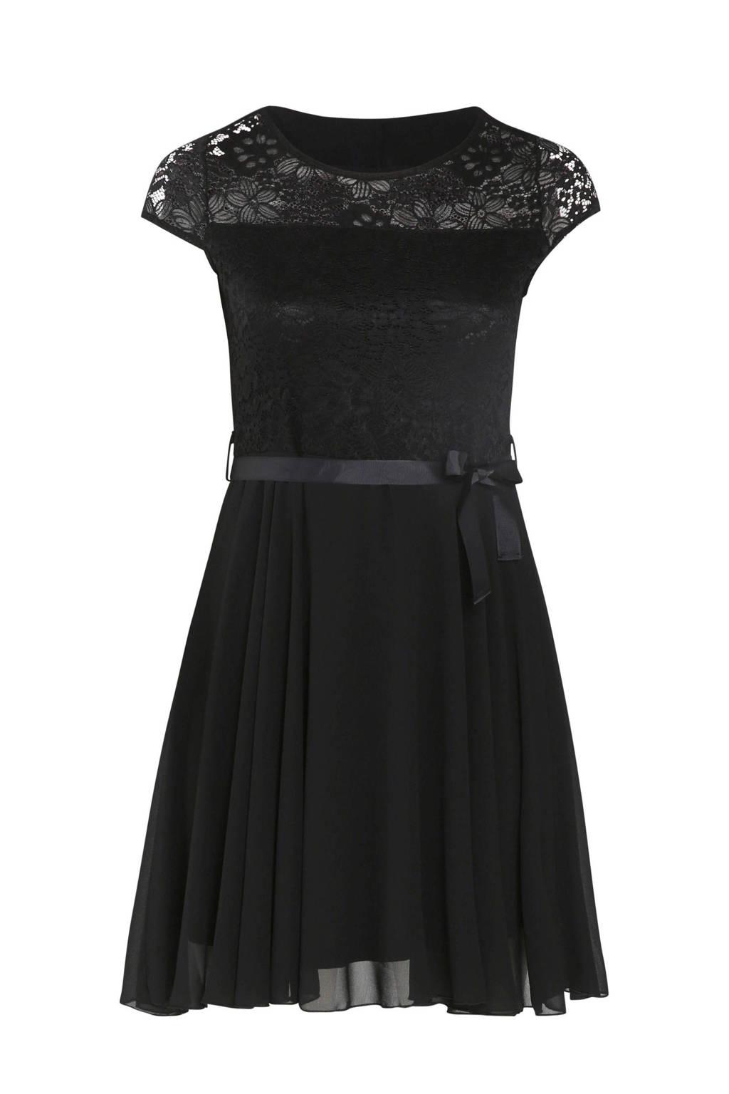 Paprika jurk met kant zwart, Zwart