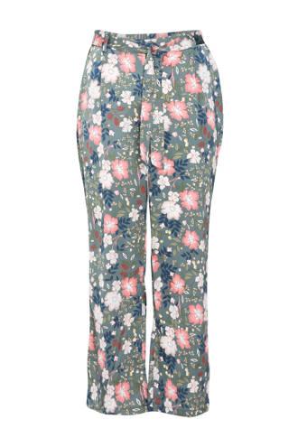 pyjamabroek in satijnlook grijs