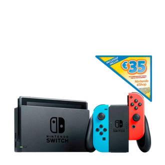 Switch (rood/blauw) + € 35 eShop tegoed