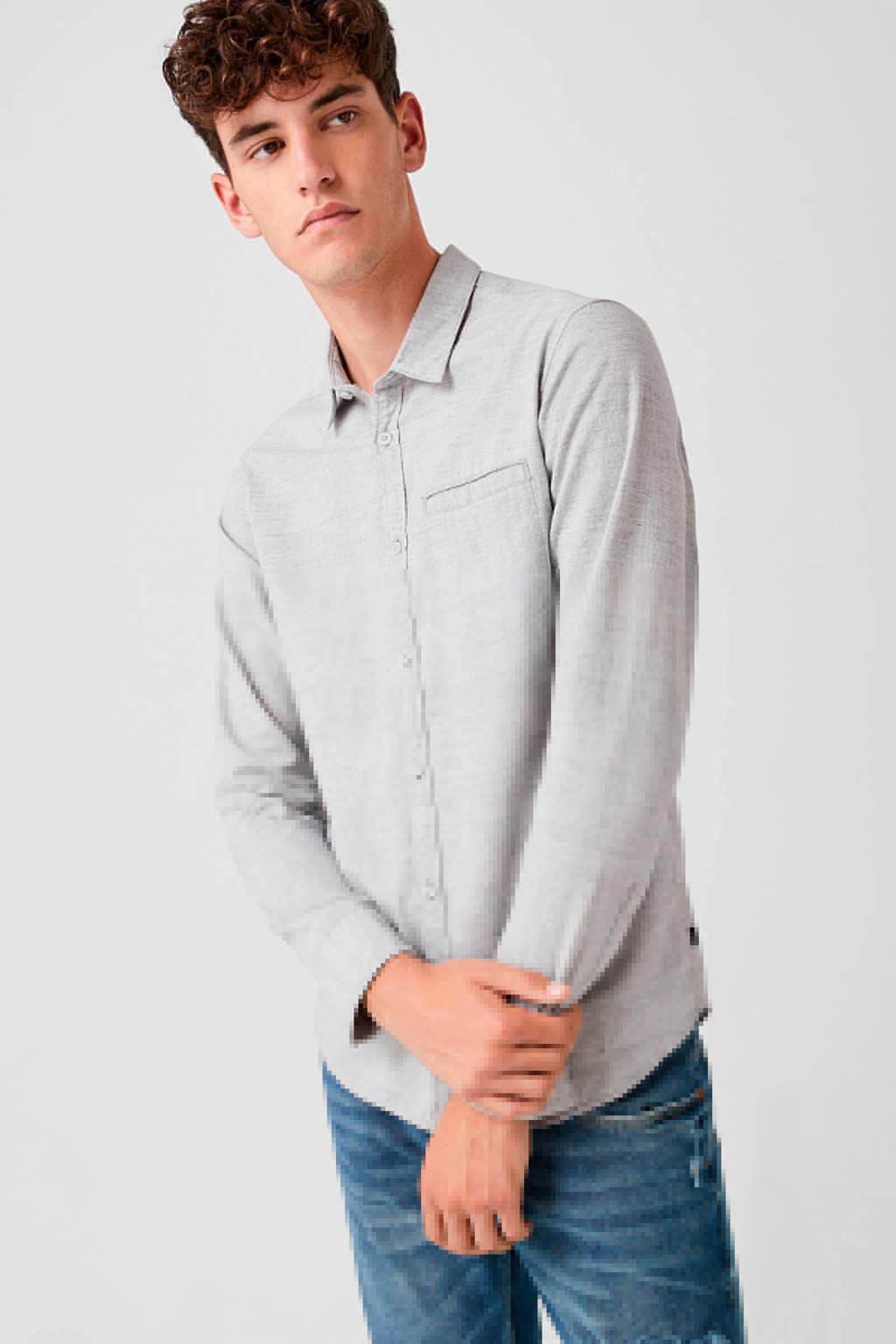 Q/S designed by slim fit overhemd grijs, Grijs
