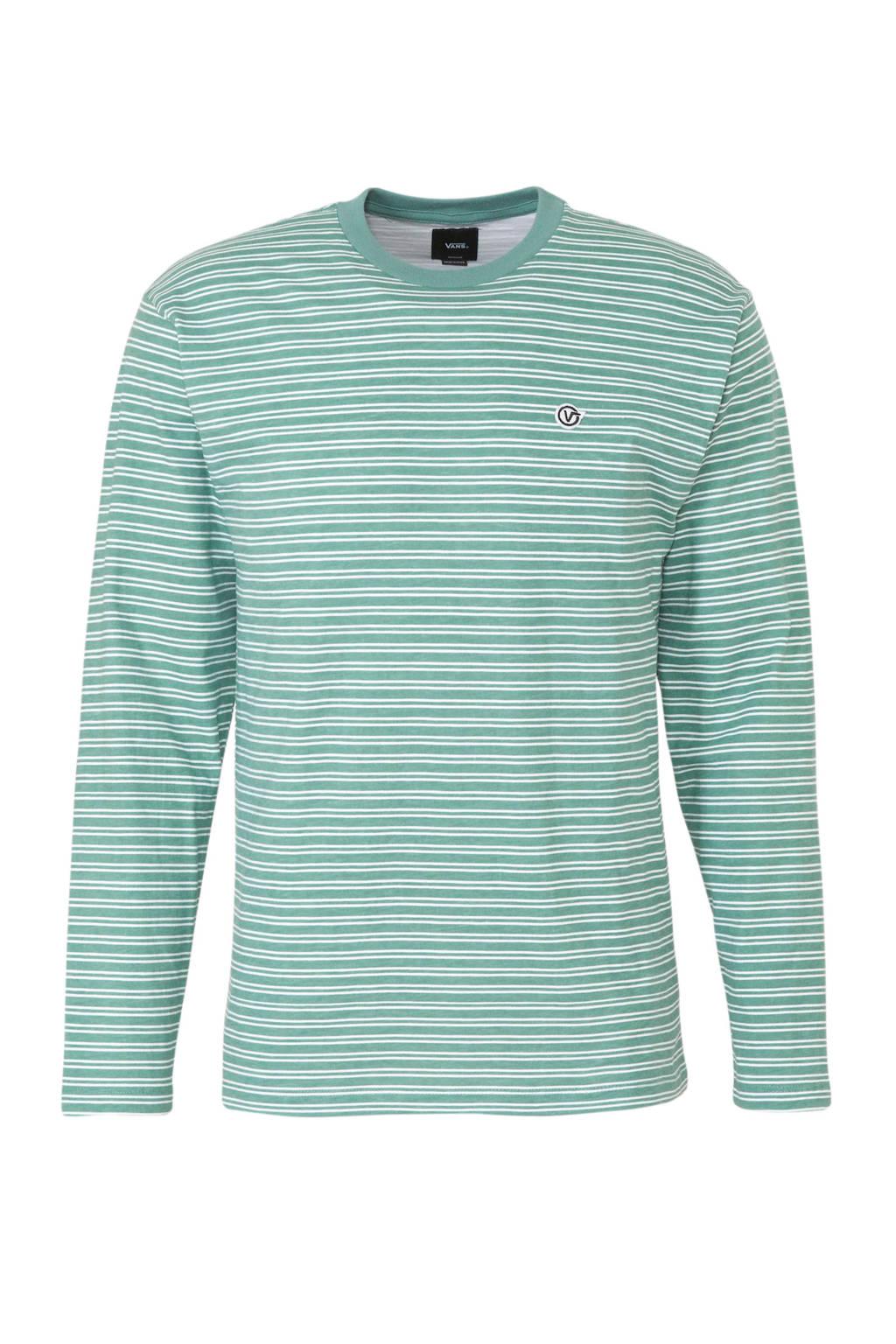 VANS   T-shirt groen/wit, Groen/wit