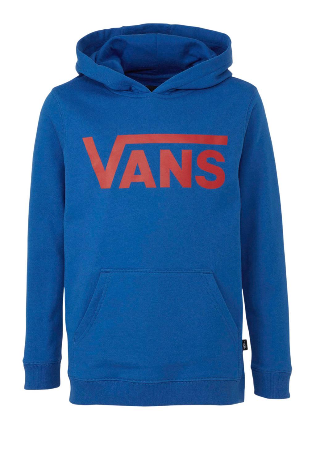 VANS hoodie met logo blauw/rood, Blauw/rood