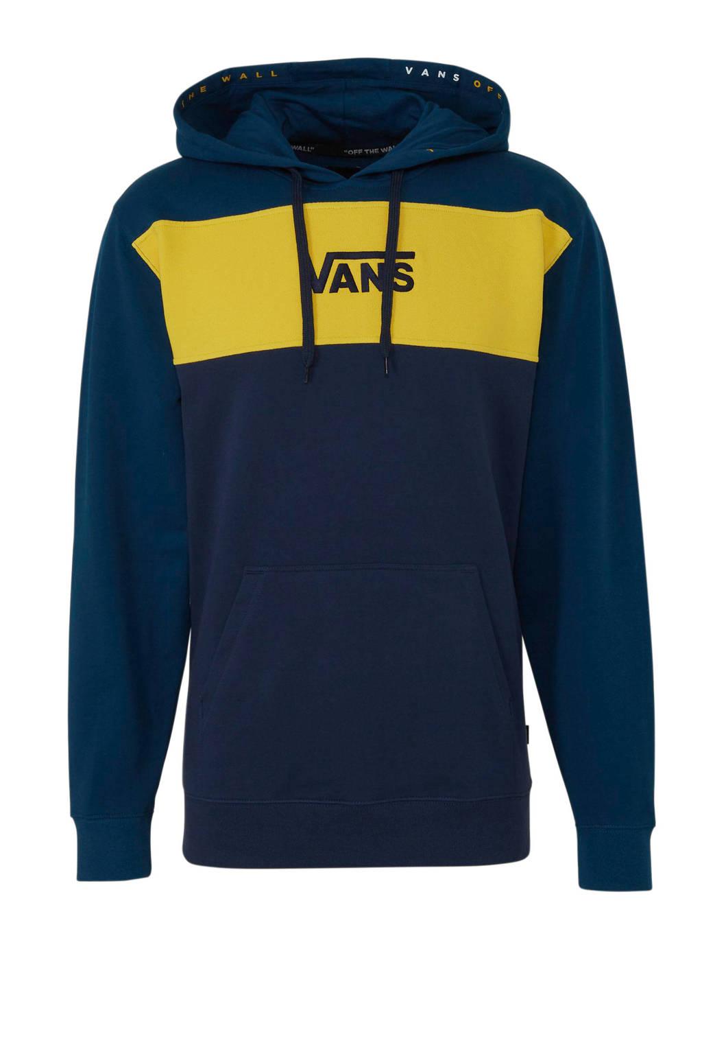 VANS   hoodie donkerblauw/geel, Donkerblauw/geel