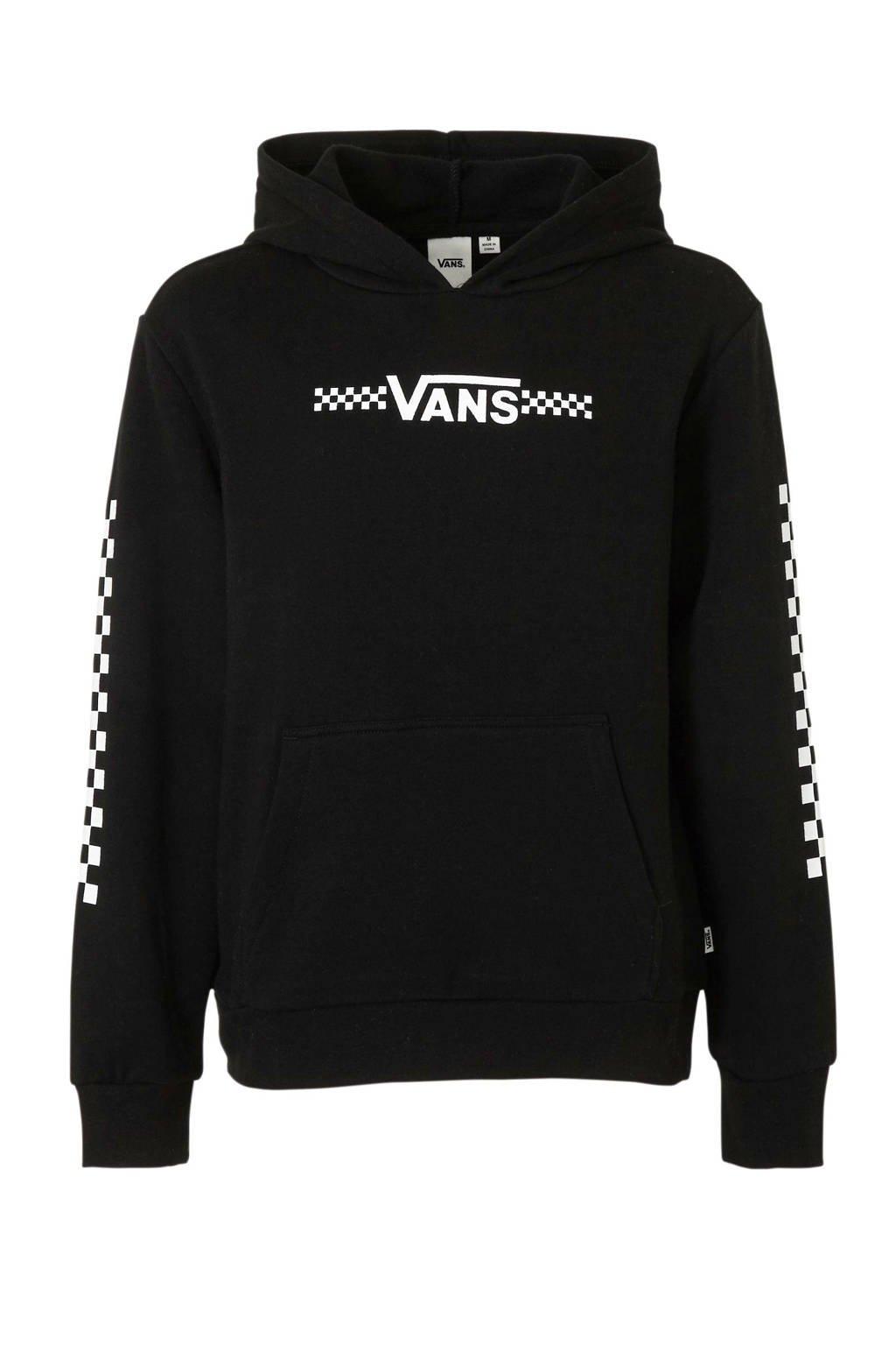 VANS hoodie met logo zwart/wit, Zwart/wit
