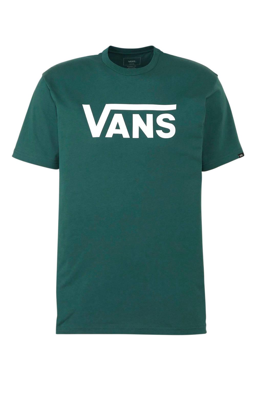 VANS   T-shirt donkergroen, Donkergroen