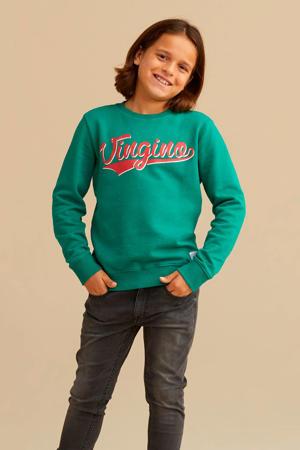 sweater Nenoi met logo groen