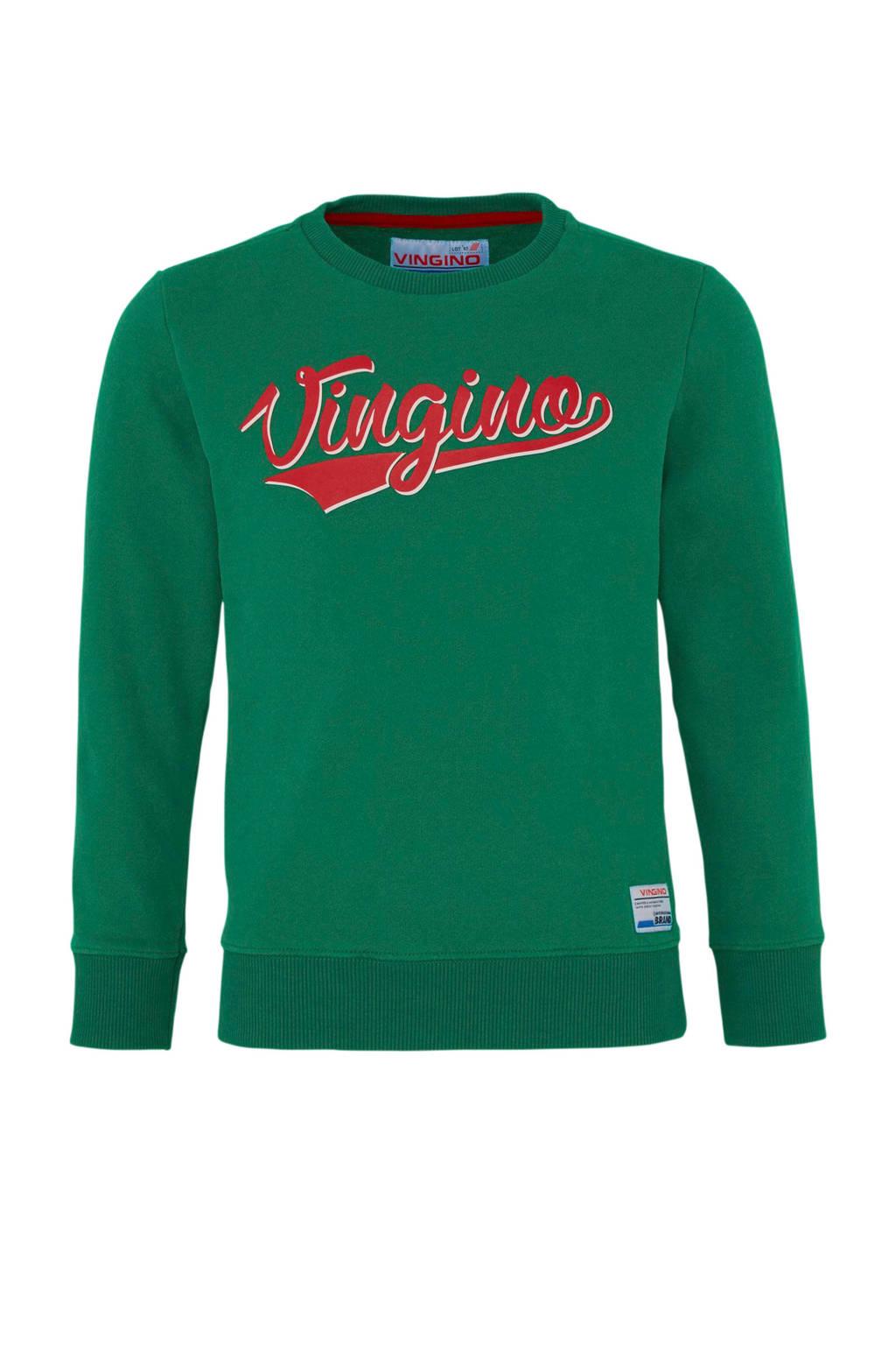 Vingino sweater Nenoi met logo groen, Groen