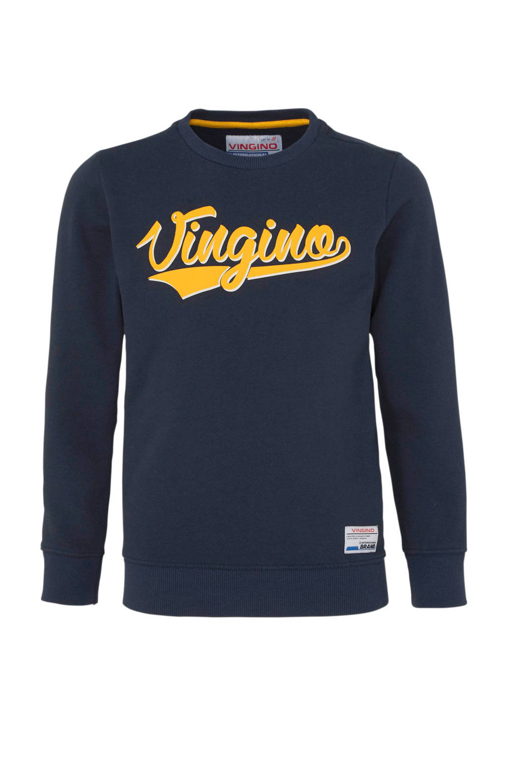 Vingino sweater Nenoi met logo donkerblauw, Donkerblauw