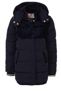 Scotch & Soda winterjas met textuur donkerblauw, Donkerblauw