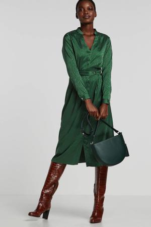 A-lijn jurk met jacquard groen