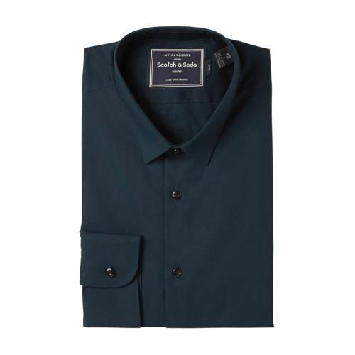 Scotch & Soda slim fit overhemd marine