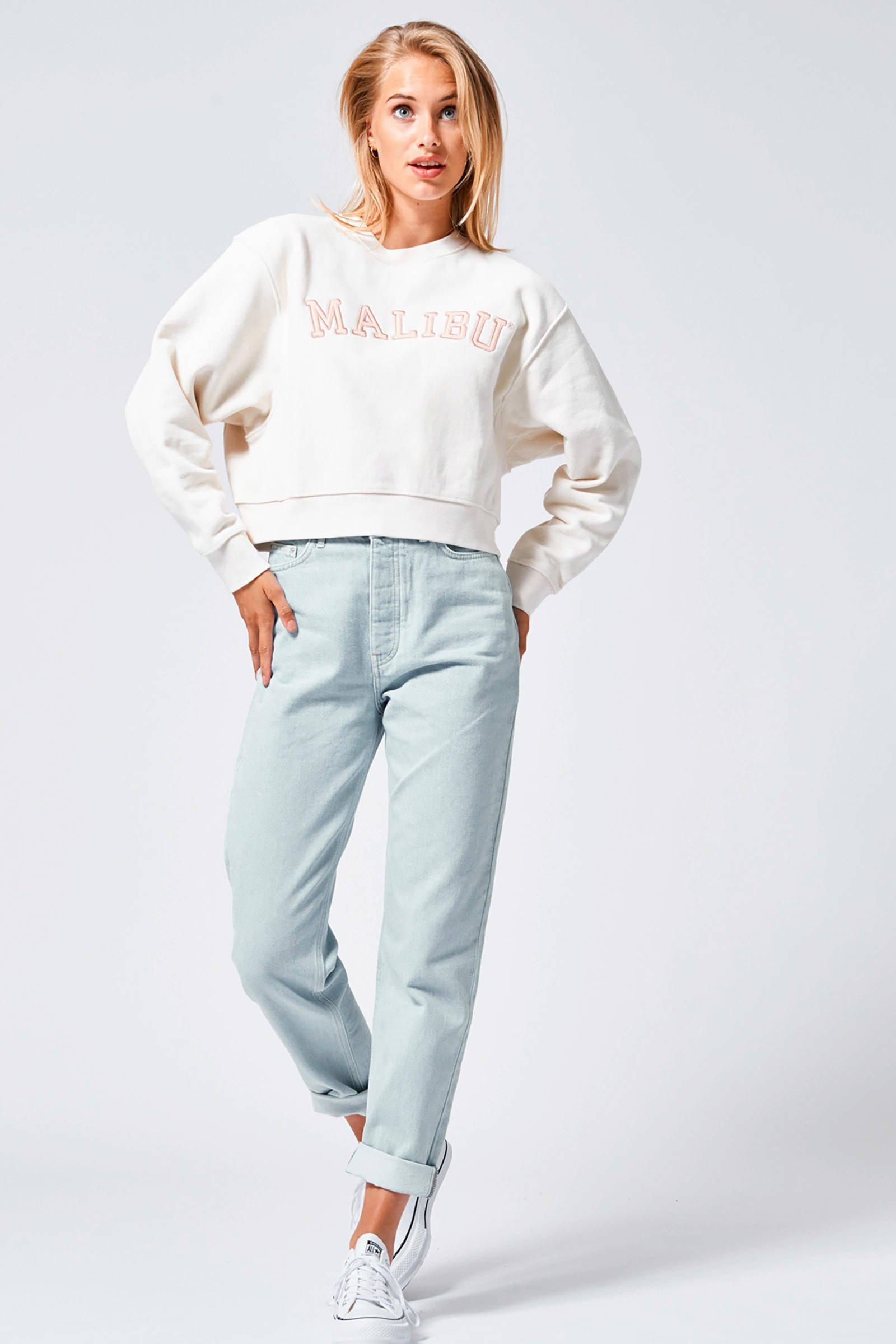 America Today sweater Simone met tekst gebroken wit | wehkamp