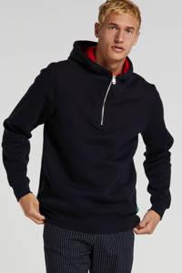Scotch & Soda hoodie donkerblauw/rood, Donkerblauw/rood