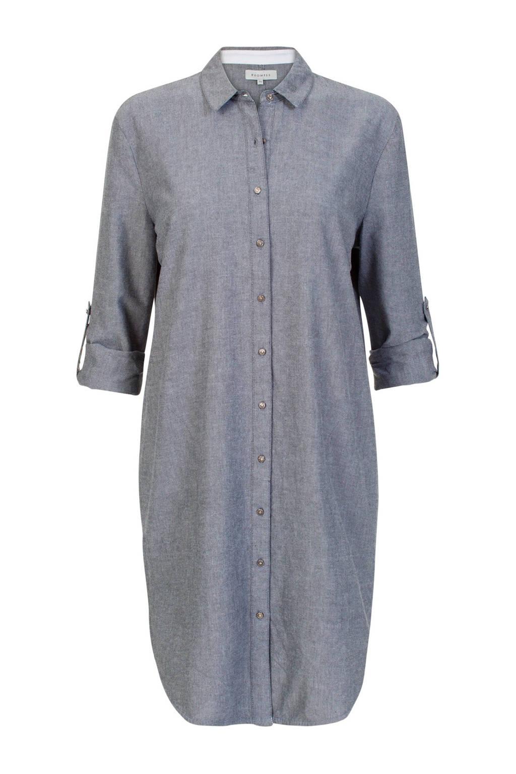 Promiss blouse grijs, Grijs