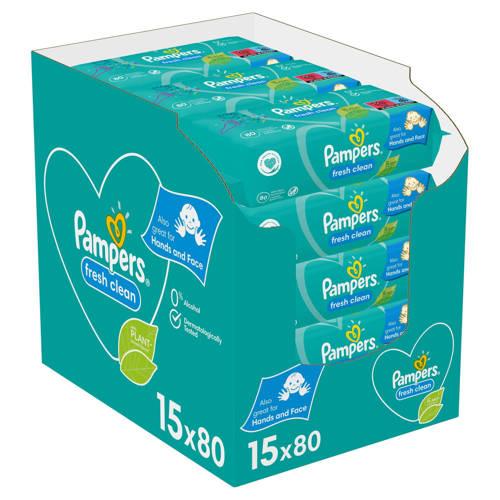 Pampers Fresh Clean 15 x 80 babydoekjes