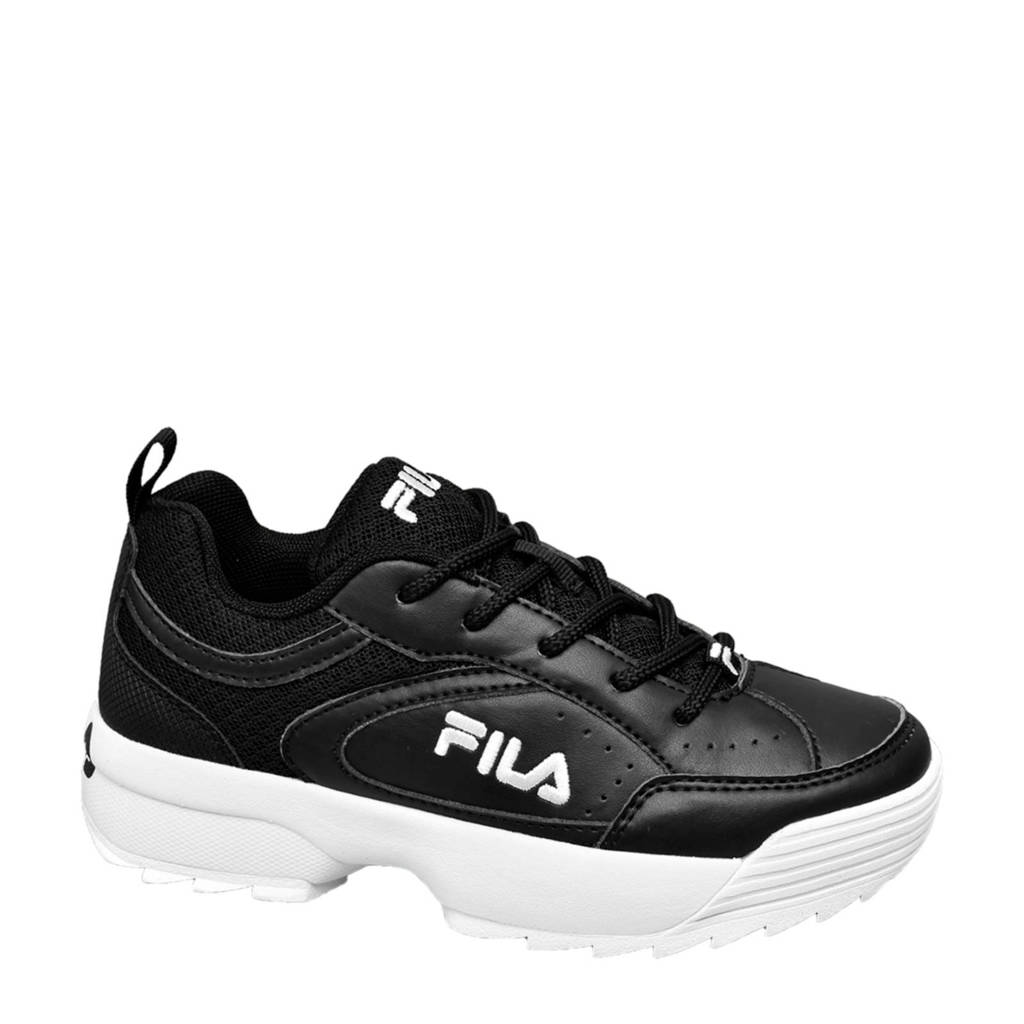 Fila   chunky sneakers zwart/wit, Zwart