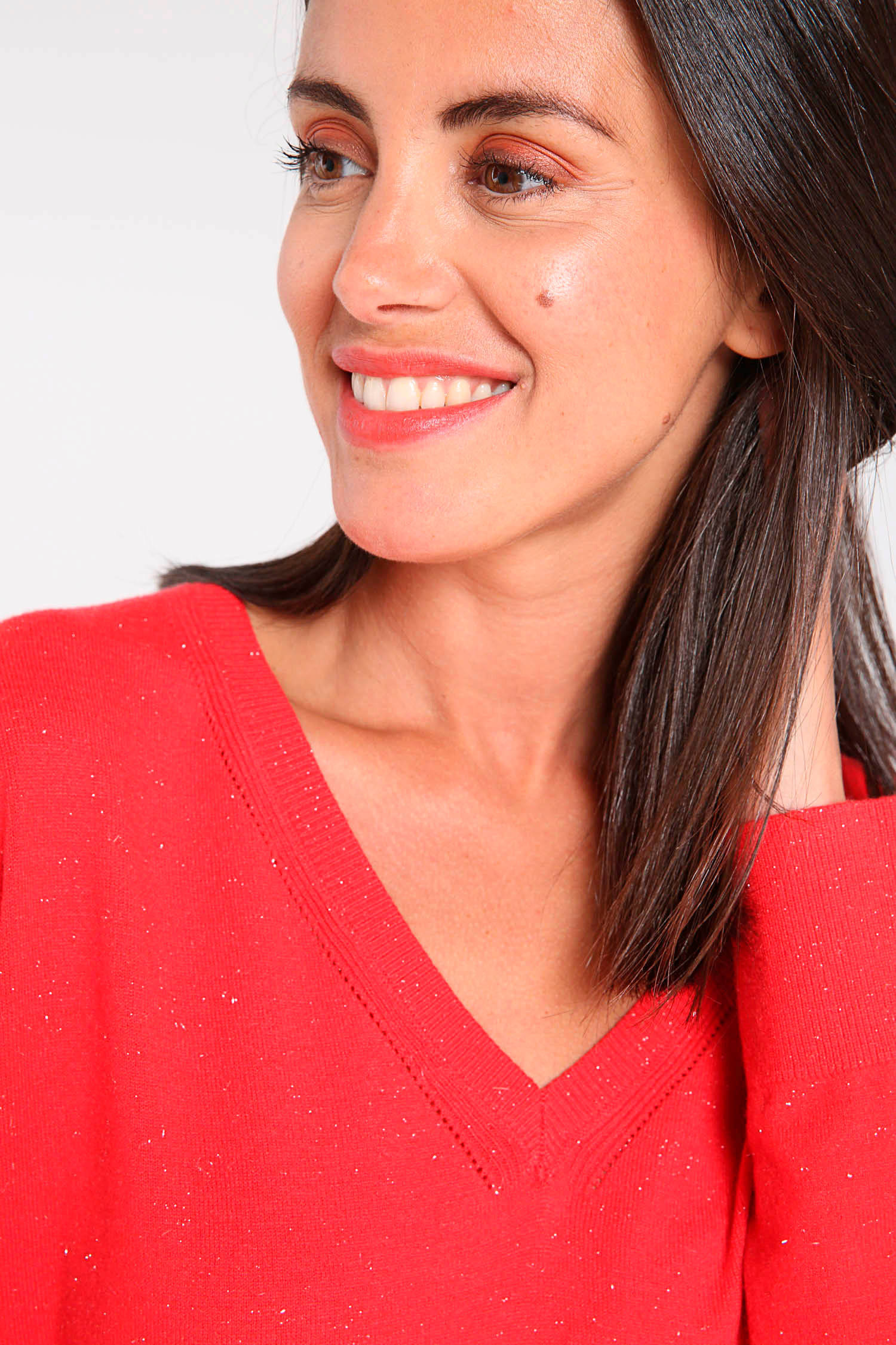 Cassis glittertrui rood | wehkamp