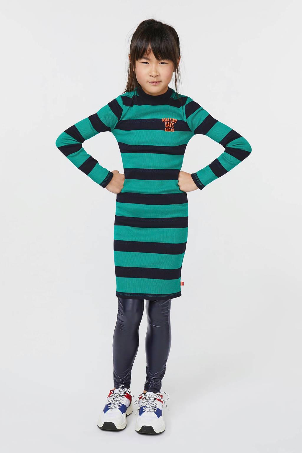 WE Fashion gestreepte jurk groen, Groen