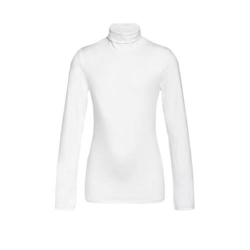 WE Fashion longsleeve met borduursel wit