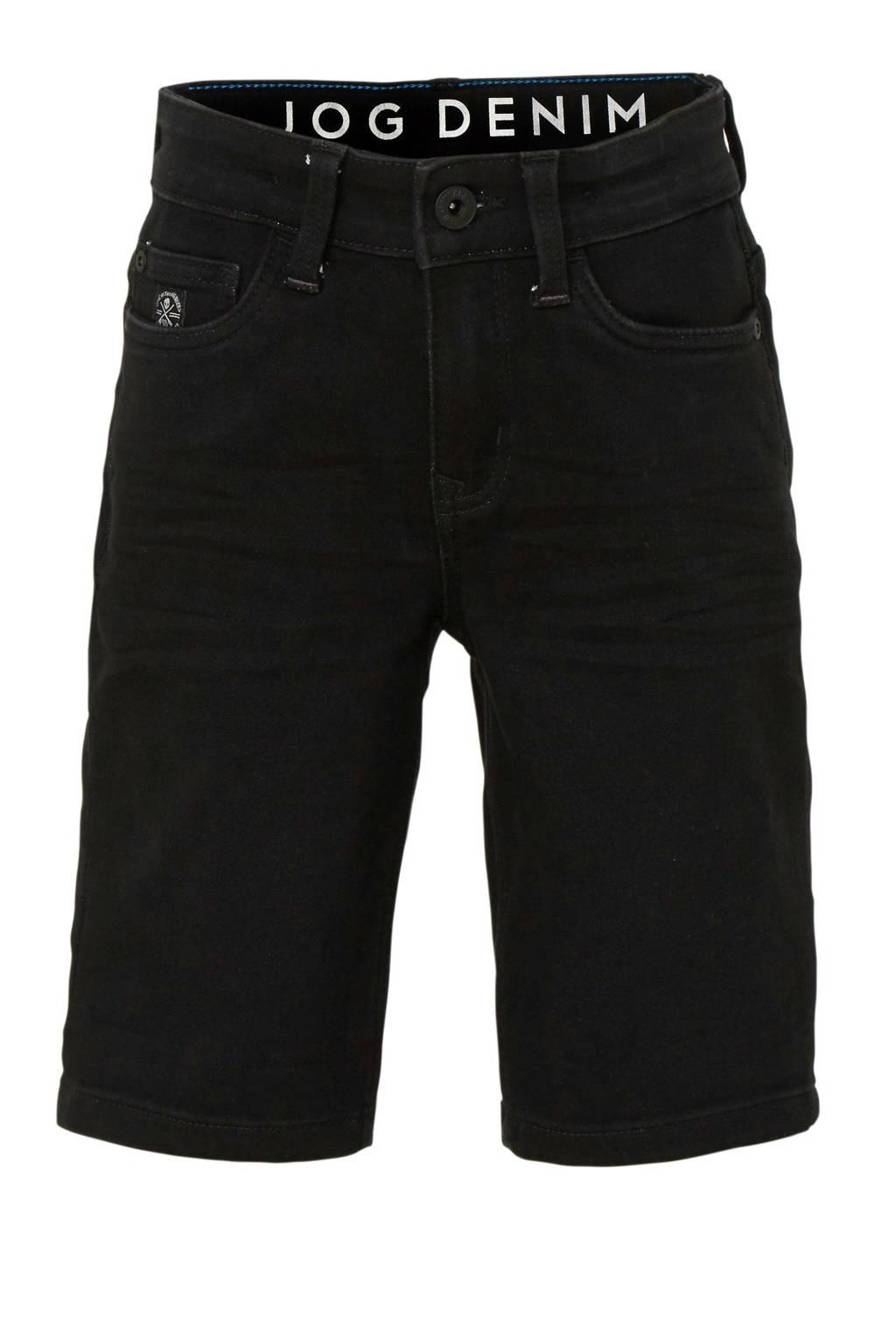 C&A The Denim straight fit jeans bermuda, Zwart