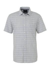 C&A Angelo Litrico slim fit overhemd met all over print grijs, Grijs