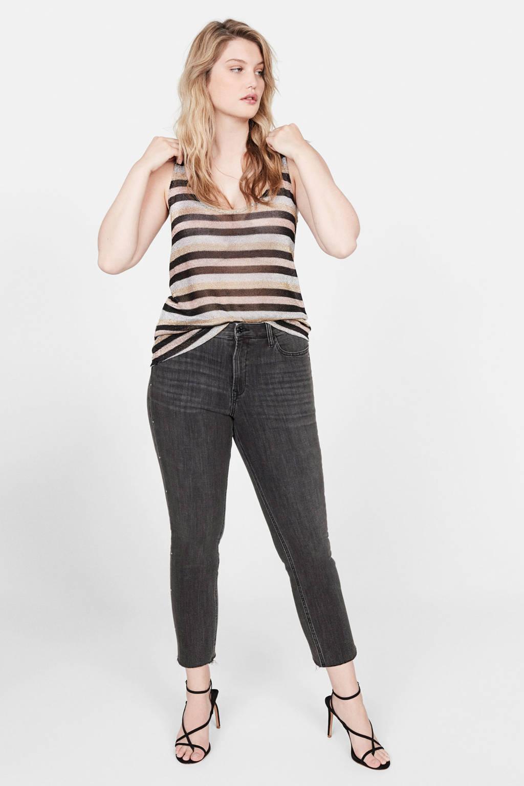 Violeta by Mango slim fit jeans, Grijs