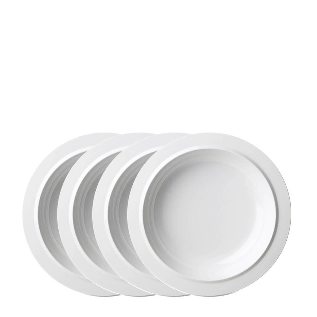 Mepal Basic diep bord (Ø19,2 cm) (set van 4), Wit