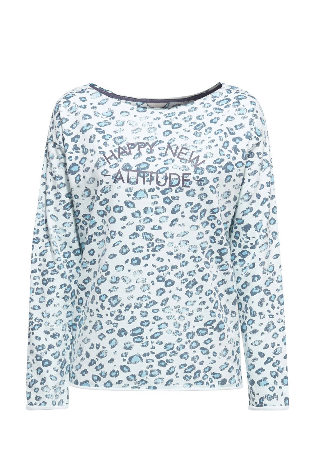 ESPRIT Women Sports sweater blauw/wit, Wit/blauw