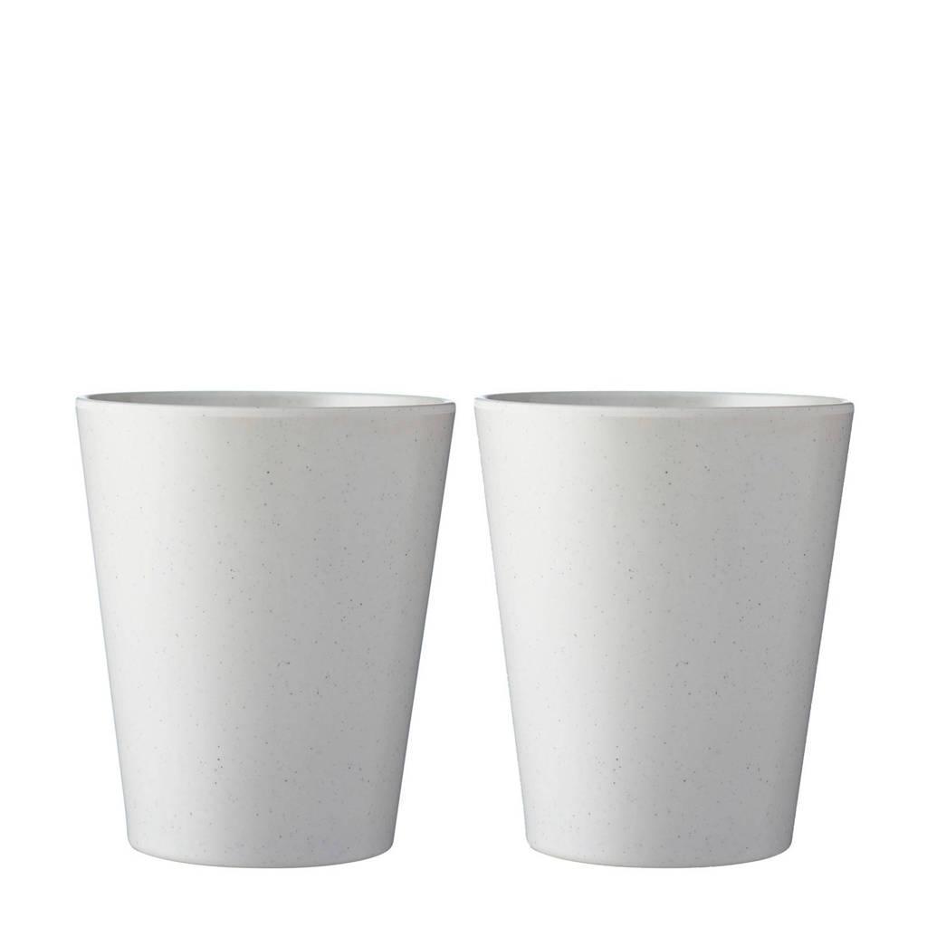 Mepal Bloom beker (300 ml) (set van 2), Wit