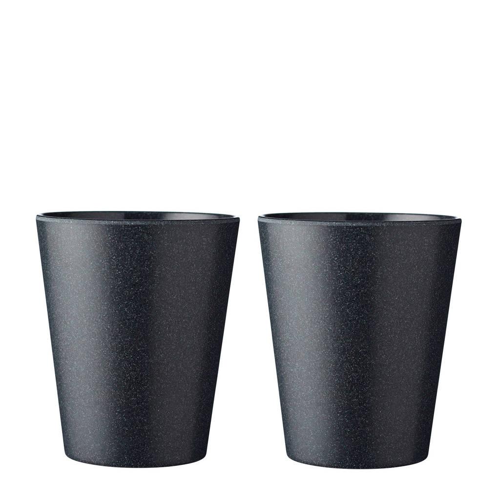 Mepal Bloom beker (300 ml) (set van 2), Zwart