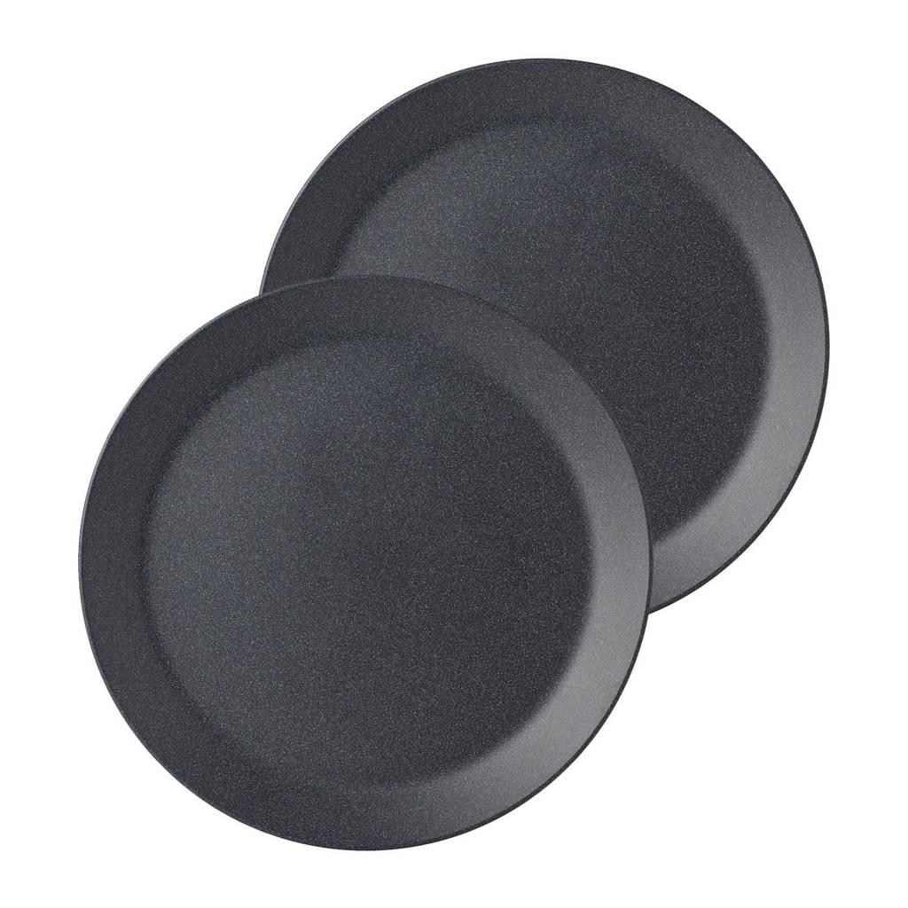 Mepal Bloom ontbijtbord (Ø24 cm) (set van 2), Zwart