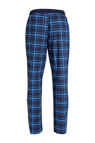 flanellen pyjamabroek geruit marine