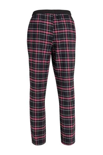 flanellen pyjamabroek geruit zwart