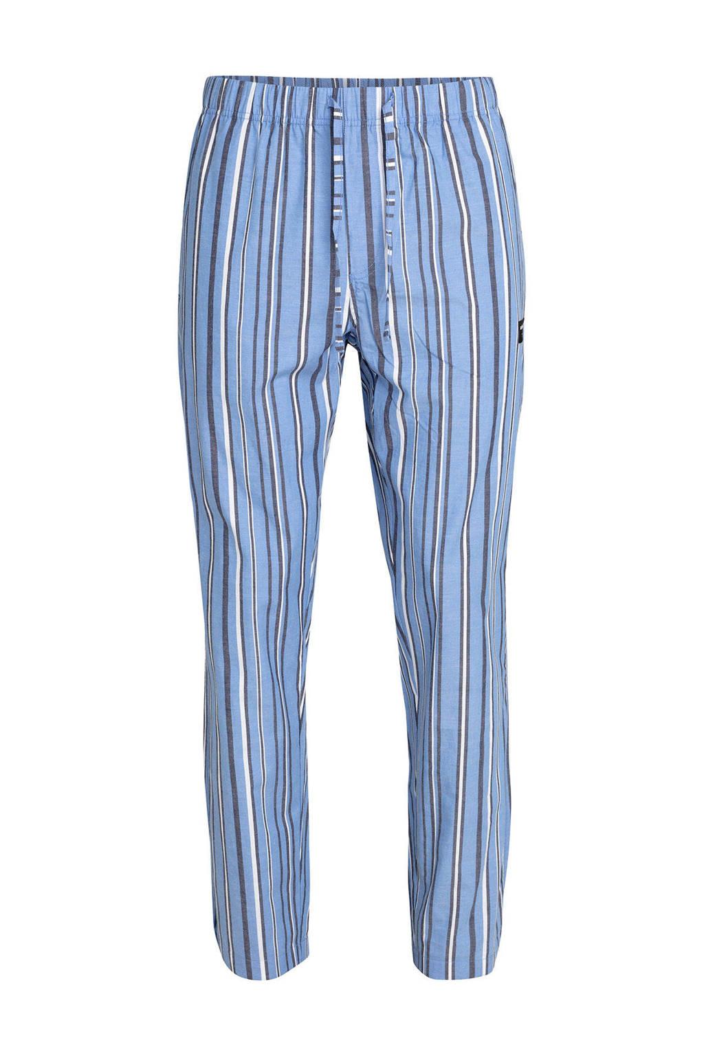 Björn Borg gestreepte pyjamabroek organisch katoen blauw, Blauw