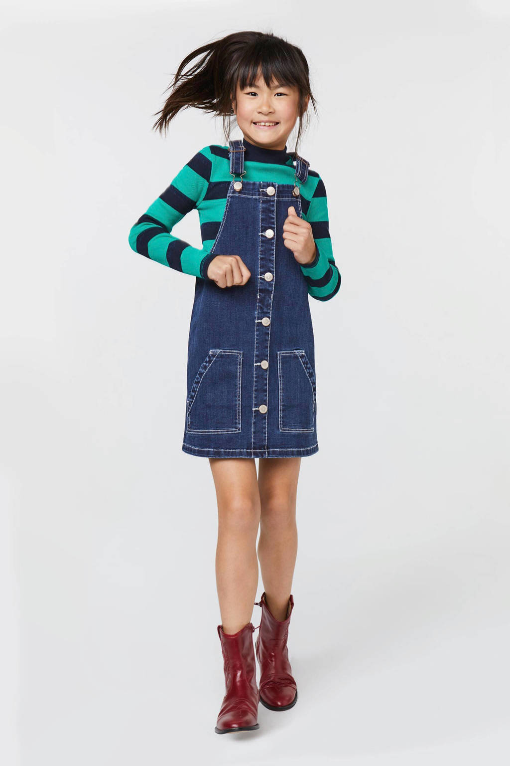 WE Fashion Blue Ridge overgooier dark denim, Dark denim