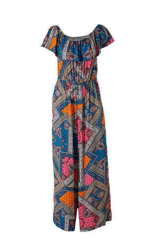 XL Clockhouse jumpsuit met all over print