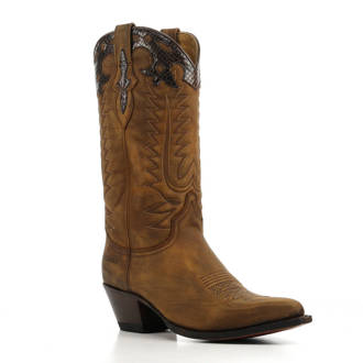 15111 Lia nubuck cowboylaarzen bruin