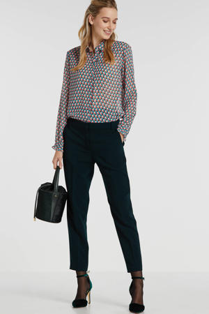 blouse met all over print roze/groen