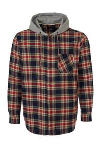 URBN SAINT geruit regular fit overhemd rood/grijs/zwart/beige, Rood/grijs/zwart/beige