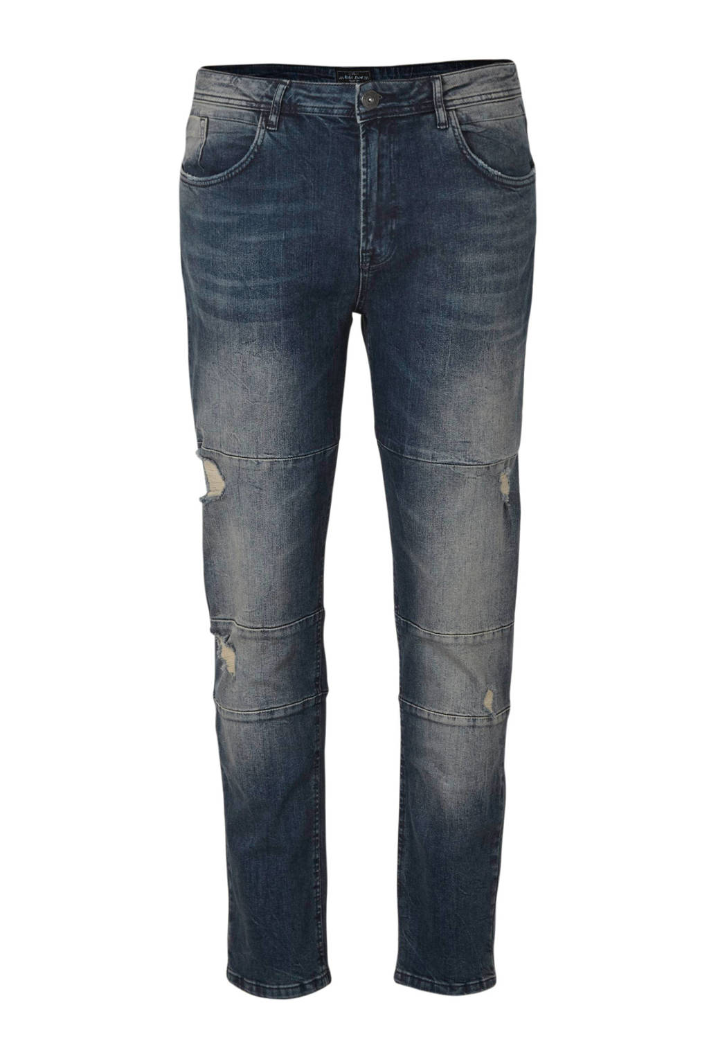 URBN SAINT regular fit jeans Geneve Cut Destroy met slijtage malgony blue 327, Malgony Blue 327